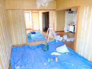 和室全体を使用勝手の良い洋室へリフォーム/約75万円台〜100万円台前後