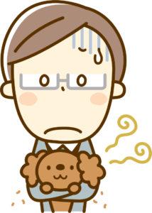 ペットの臭いの原因とは?