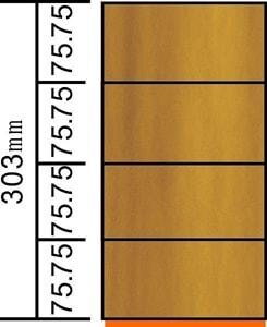 長い方の3570mmに注目します